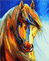 "Картина по номерам ""Цветная лошадь"" (400х500 мм)"