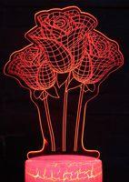 """Декоративный светильник """"3D лампа. Розы"""""""