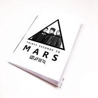 "Блокнот белый ""30 seconds to Mars"" А5 (144)"