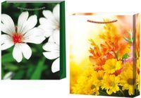 """Пакет пластиковый подарочный """"Цветы"""" (в ассортименте; 27х23 см)"""