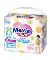 "Трусики-подгузники ""Merries L"" (9-14 кг; 22 шт.)"