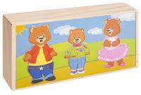 """Деревянная игрушка """"Три медведя. Набор медвежат"""""""