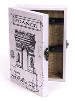 Ящик для ключей деревянный настенный (255х185х65 мм; арт. 7790122)