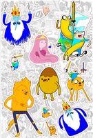 """Набор глянцевых наклеек """"Adventure Time"""" №3"""