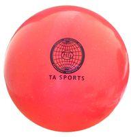 Мяч для художественной гимнастики (коралловый с блестками)