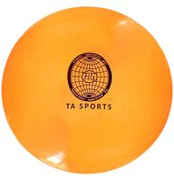 Мяч для художественной гимнастики (оранжевый с блестками)