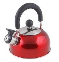 Чайник металлический со свистком (1,2 л; красный металлик)