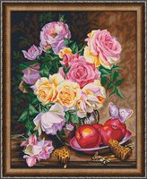"Картина по номерам ""Розы и мед"" (400х500 мм)"