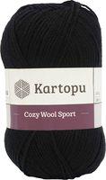 "Пряжа ""KARTOPU. Cozy Wool Sport №K940"" (100 г; 280 м; черный)"