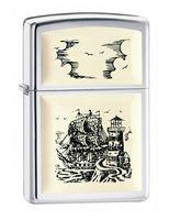"Зажигалка Zippo ""Scrimshaw Ship Emblem"" (359)"