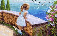 """Канва с нанесенным рисунком """"Летняя прогулка"""""""