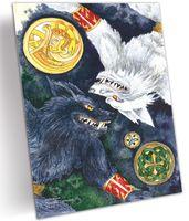 """Открытка """"Волки-воители"""" (арт. 0225)"""
