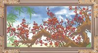 "Вышивка бисером ""Цветущая сакура"" (180х365 мм)"