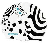 Шапочка для плавания (белая; кот; арт. PSC412)