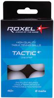 """Мячи для настольного тенниса """"Tactic"""" (белые; 6 шт.; 1 звезда)"""