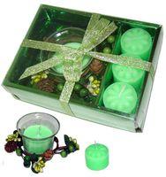 Набор свечей декоративных с подсвечником (4 шт.)