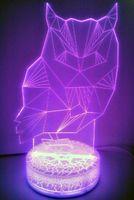 """Декоративный светильник """"3D лампа. Сова"""""""