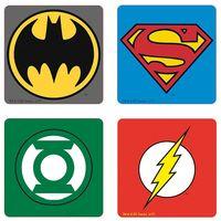 """Набор подставок под кружку """"DC. Emblem"""" (4 шт.)"""