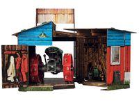 """Сборная модель из картона """"Трактор и гараж"""""""