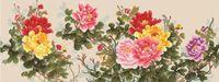 """Канва с нанесенным рисунком """"Цветы"""" (арт. А-1696)"""