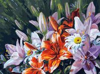"""Картина по номерам """"Лилии из сада"""" (300х400 мм)"""