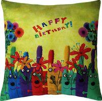 """Подушка """"Happy Birthday!"""" (35x35 см; зелёная)"""