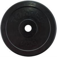 Диск обрезиненный 5 кг (чёрный; арт. PL50705)