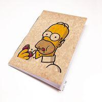 """Блокнот крафт """"Гомер Симпсон"""" А6 (002)"""