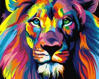 "Картина по номерам ""Радужный лев"" (400х500 мм)"