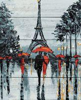 "Картина по номерам ""Парижские зонтики"" (400х500 мм)"