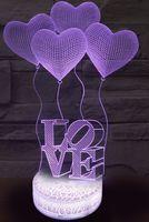 """Декоративный светильник """"3D лампа. Воздушные шары"""""""