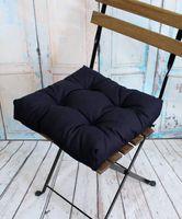 """Подушка на стул """"Monochrome"""" (40х40 см; темно-синяя)"""