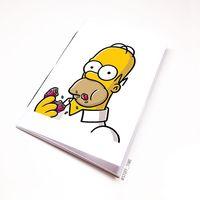 "Блокнот белый ""Гомер Симпсон"" А6 (002)"