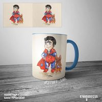 "Кружка ""Супермен"" (арт. 1235, голубая)"