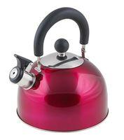 Чайник металлический со свистком (2,15 л; вишневый металлик)