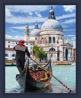"""Алмазная вышивка-мозаика """"Венецианский гондольер"""" (400х300 мм)"""