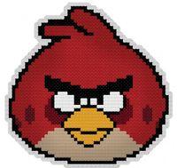 """Вышивка крестом """"Брелок. Злая птица"""" (80 мм)"""