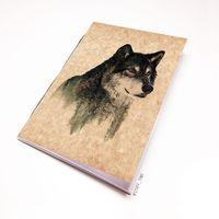"""Блокнот крафт """"Волк"""" (А7; арт. 941)"""