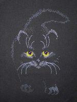 """Вышивка крестом """"Черный кот"""" (190х255 мм)"""