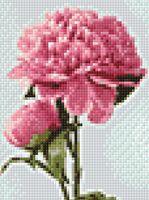 """Алмазная вышивка-мозаика """"Цветущие пионы"""" (150х200 мм)"""