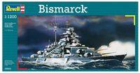 """Сборная модель """"Линейный корабль Bismarck"""" (масштаб: 1/1200)"""