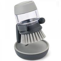 """Щетка для мытья посуды с дозатором """"Palm Scrub"""" (серая)"""