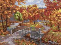 """Вышивка крестом """"Осенний парк"""""""