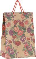 """Пакет бумажный подарочный """"Розы"""" (24х33х8 см; арт. 43737)"""
