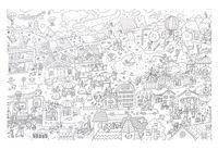 """Набор для рисования """"Огромная раскраска. Мой город"""""""