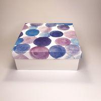 """Подарочная коробка """"Акварельные цвета"""" (19х19x7,5 см)"""