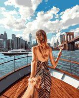 """Картина по номерам """"Следуй за мной. Яхта"""" (400х500 мм)"""