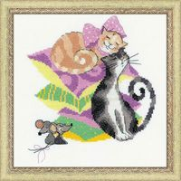 """Вышивка крестом """"Кошки-мышки"""" (арт. 1466)"""