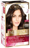 """Крем-краска для волос """"Excellence"""" (тон: 3, темно-каштановый)"""
