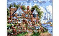 "Картина по номерам ""Красивый дом у реки"" (400x500 мм)"
